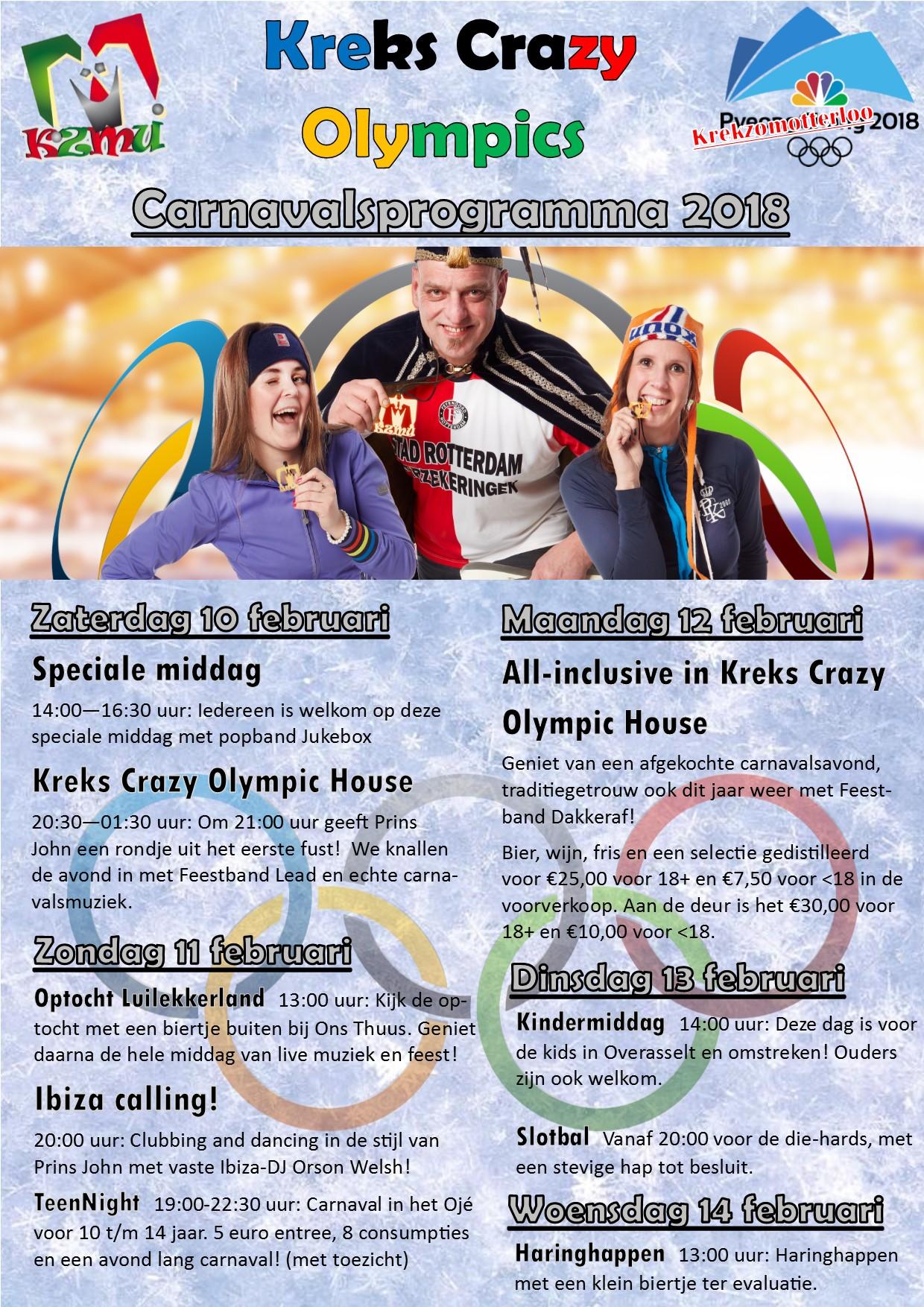 Poster programma carnaval 2018
